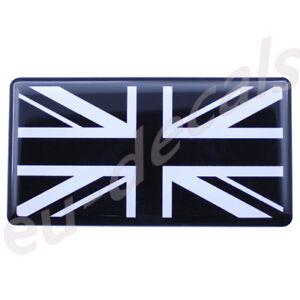 Black-White-Union-Jack-flag-3D-Decal-domed-7cm-for-Triumph-Thruxton-Bonneville