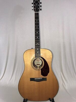 Musical Instruments & Gear Fender Paramount Series Pm-1 Deluxe Dreadnought Acoustic/electric Guitar Natur Acoustic Electric Guitars