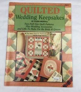 Image Is Loading Quilted Wedding Keepsakes Quilt Pattern Booklet By Eileen