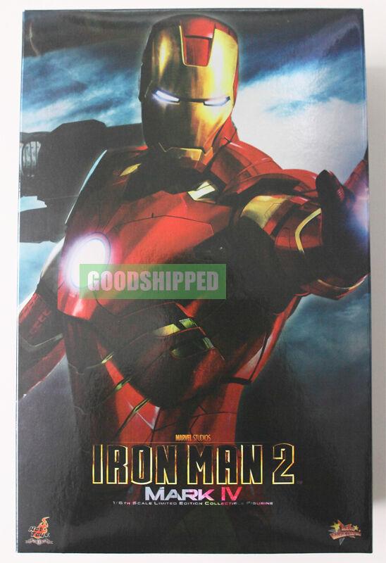 Hot TOYS IRONMAN 2 Mark IV 4 cuatro Tony Stark MMS 16 original y en caja sellada rareza última