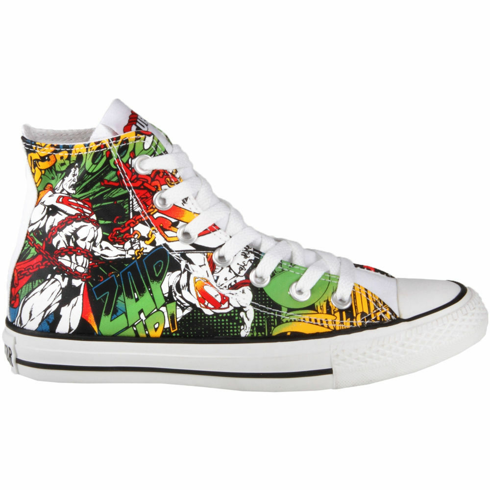 converse boots superman unisex trainers hi top trainer rare boots converse print comic rare 1495ff