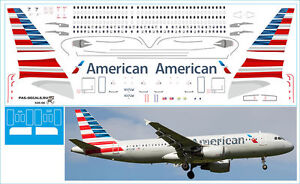 1/144 PAS-DECALS ZVEZDA AIRBUS A320  AMERICAN AIRLINES