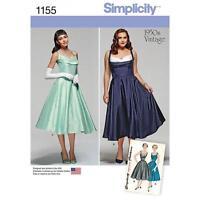 SIMPLICITY SEWING PATTERN 1950'S VINTAGE MISSES WOMEN'S DRESS 10-18 20W-28W 1155
