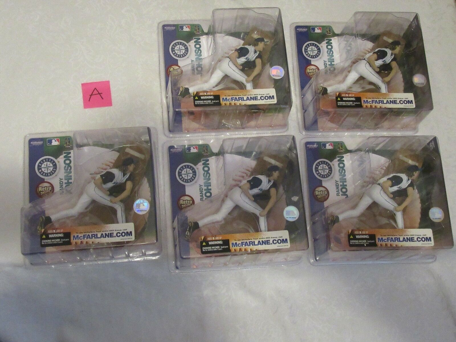 McFarlane MLB Series 7 Randy Johnson Chase Variant Retro Edition Lot of 5 A