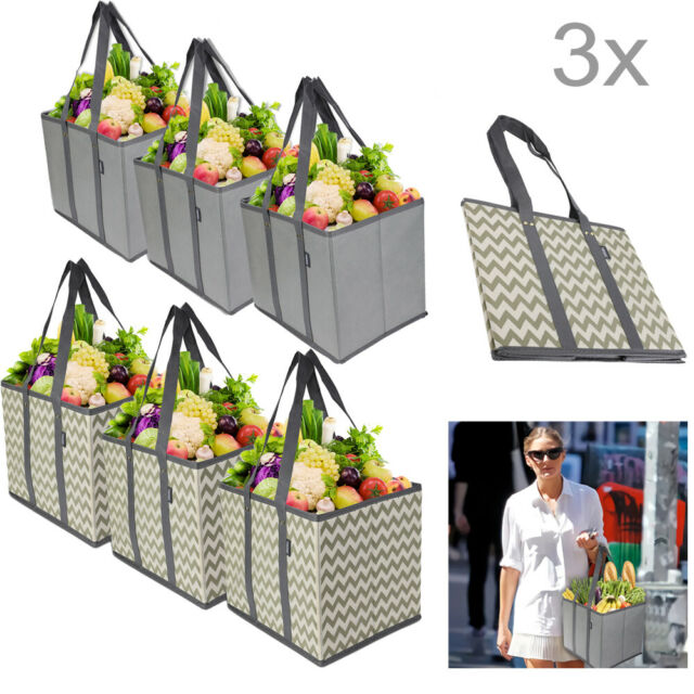1PC Foldable Reusable Grocery Bag Shopping Tote Bag Waterproof Washable