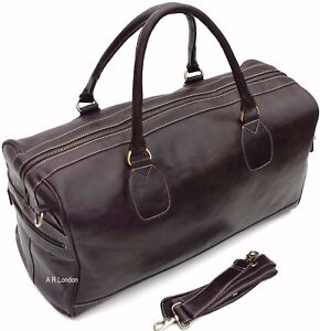 Leather-Weekend-Bag-Large-Travel-Duffle-Sports-Gym-Holdall-Luggage-RRP-195-00