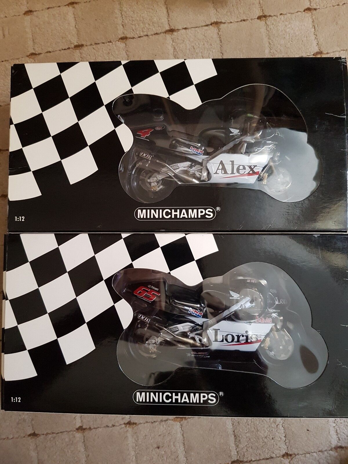 Minichamps 1 12 West HONDA PONS ALEX BARROS & Loris Capirossi 2001