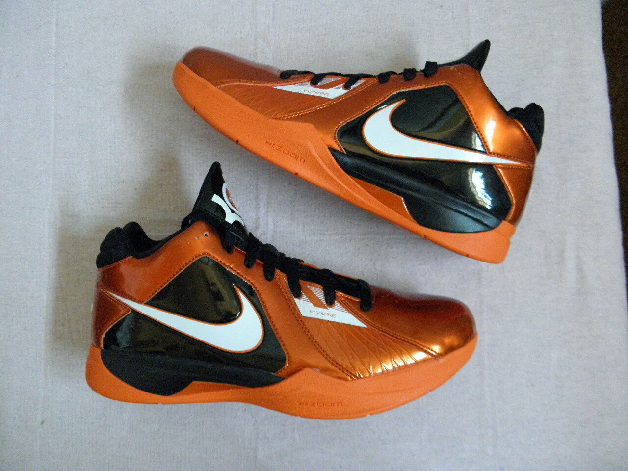 Nike Air Zoom KD KD3 3 III size 11 Kevin Durant EYBL Black orange PE 2009  RARE