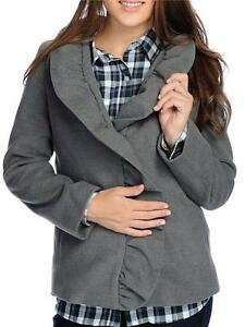 Details about NEW Bows & Sequins Brushed Woven Long Sleeved Ruffle Collar Two Pocket Jacket S