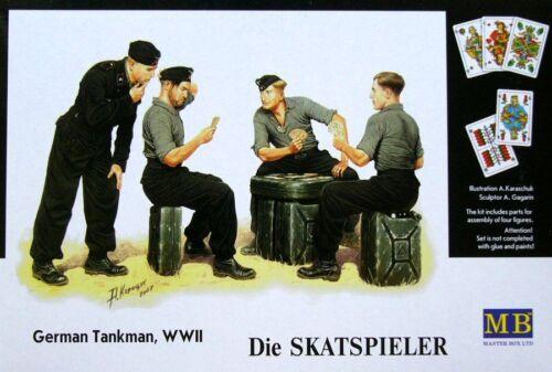 """MASTERBOX GERMAN TANKMAN WWII /""""DIE SKATSPIELER/"""" Scala 1:35 cod.3525"""
