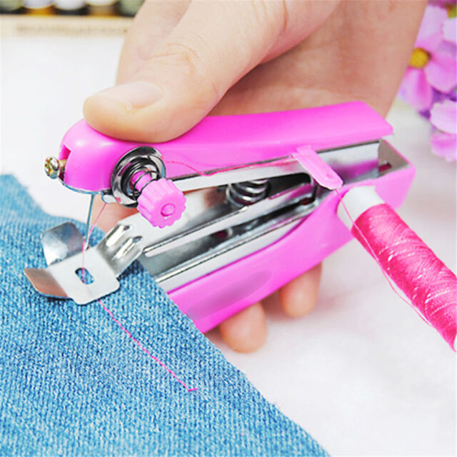 Lovely Cordless Hand held Clothes Sewing Machine Home Travel Use toolsBL