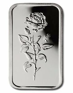 UAE-999-Fine-Silver-Art-Bar-5-gram-039-Rose-of-Dubai-039-UNCIRCULATED-SCARCE