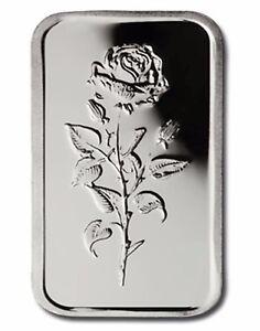 UAE-999-Fine-Silver-Art-Bar-5-gram-039-Rose-of-Dubai-039-UNCIRCULATED-SCARCE
