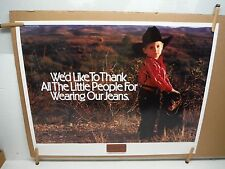 Wrangler jeans  we'd like to thank all the little people Vintage Poster