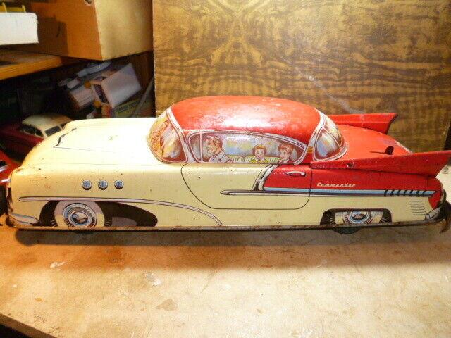 Old toy joustra auto commander cle mecanique tole 1950 gama schuco jep