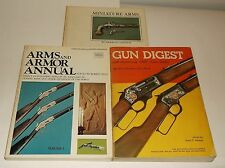 GUN DIGEST PB/1970 ARMS & ARMOR PB/1973 MINIATURE ARMS HC/1970 1ST ED. 3 BOOKS-I