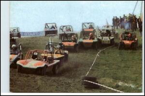 DDR-Postkarte-Buggy-Rennen-Feld-Wald-Wiese-Sportart-AK
