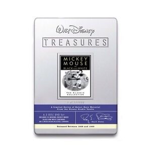 Walt-Disney-Treasures-DVD-Mickey-Mouse-Black-and-White-Sealed-Collectors-Tin