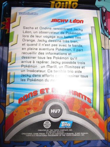 Pokemon new card topps serie 3 francais jacky leon # hv7 mint