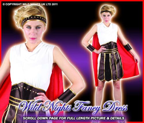 FANCY DRESS FUN ROMAN GLADIATOR WOMAN SM 8-10