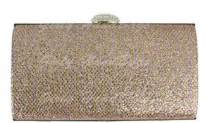 Image is loading Glitter-Clutch-Bag-Hard-Case-Evening-Sparkle-Rose- 76b224eea