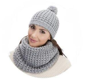 Hüte & Mützen Vereinigt Damen Gl493 Wollig Mütze Grau Silber Verkaufspreis FüR Schnellen Versand Damen-accessoires