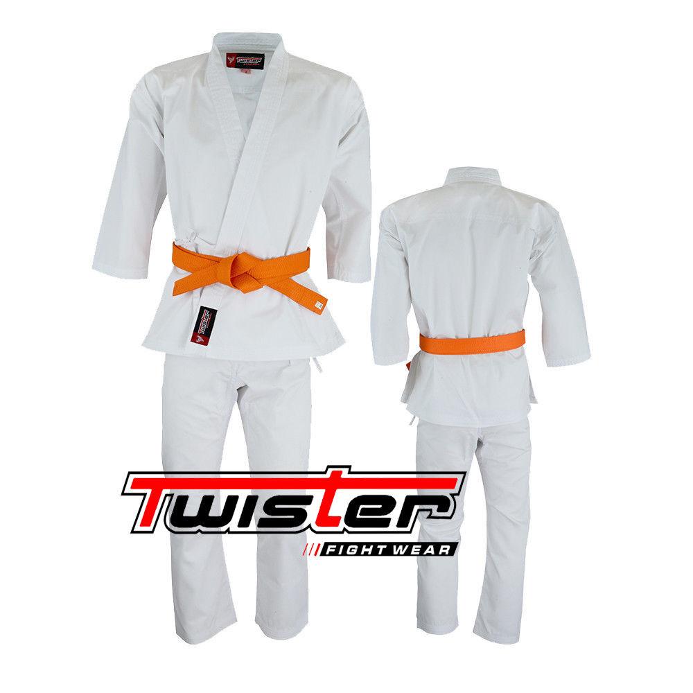 Twister  Middleweight Karate Uniform GI 5 GIS 55  with free bianca Belt 8.5oz