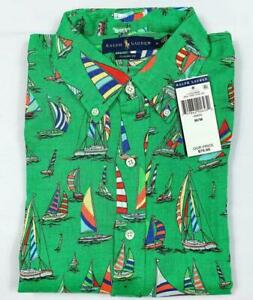 Polo-Ralph-Lauren-Men-Classic-Fit-Linen-Button-Down-Floral-Short-Sleeve-Shirt