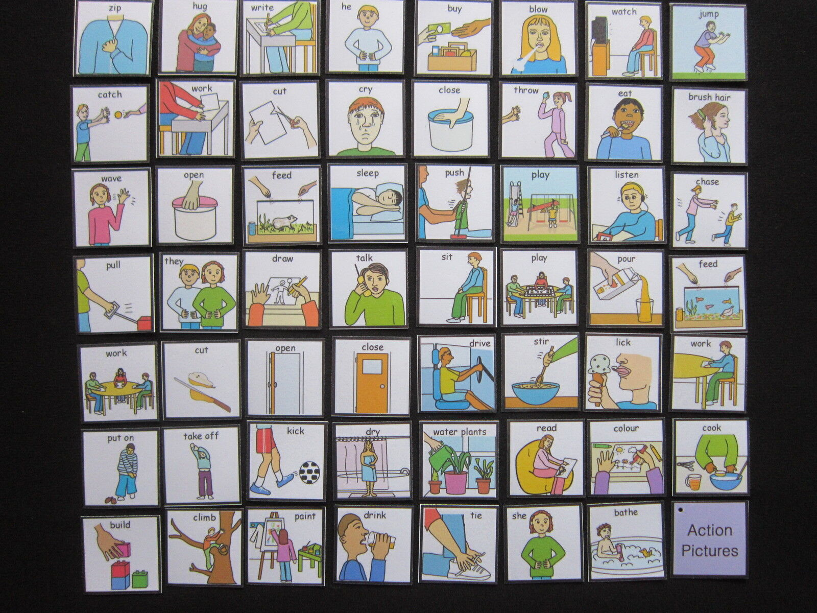 Actions Picture Cards  Autism PECS Non verbal Early Yrs Visual Aid Dementia EASL
