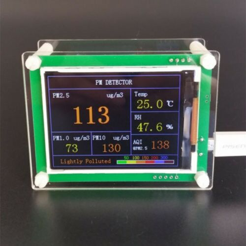 2019 Laser PMS5003 G5 PM2.5 PM1.0 PM10 Detector Air quality Haze Humidity Temp