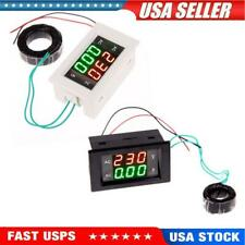 Ac Digital Ammeter Voltmeter Lcd Panel Amp Volt Meter 100a 60 500v