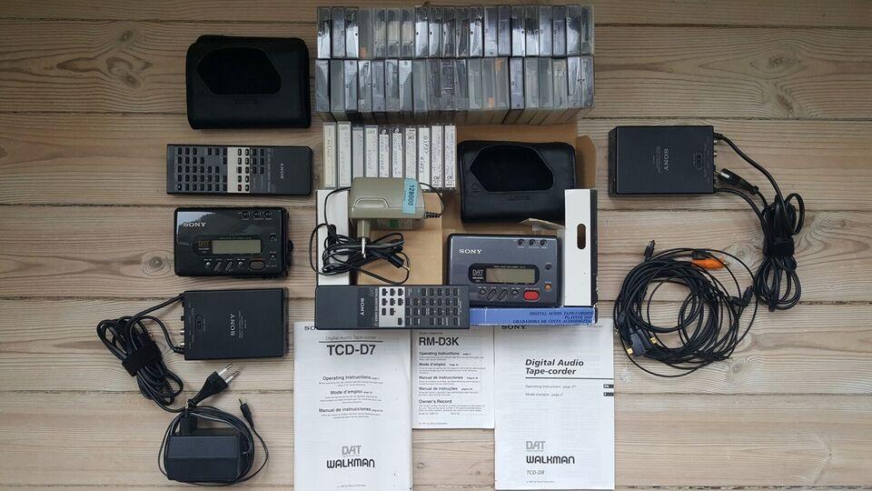 Båndoptager, Sony, DAT TDC-D7 & TDC-D8