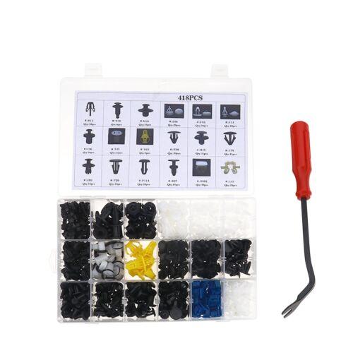 418 18 Size Nylon Retainer Push Pin Trim Rivets Auto Clips Kit Set for Honda