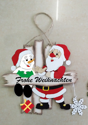 Fensterbild Wandbild Raumschmuck Weihnachtsmann Schneemann Frohe Weihnacht 70462
