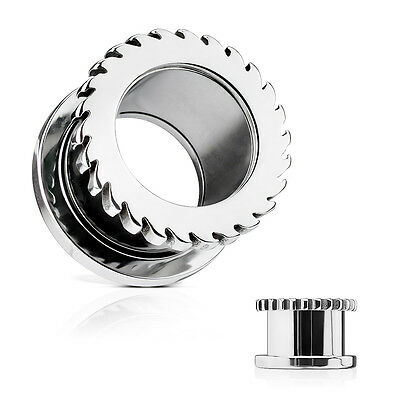PAIR Saw Blade Surgical Steel Screw Fit Tunnels Plugs Earlets Gauges