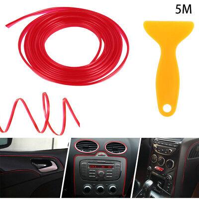 5M Matte Red Car Auto Interior Styling Moulding Trim Strip DIY Decorative Line