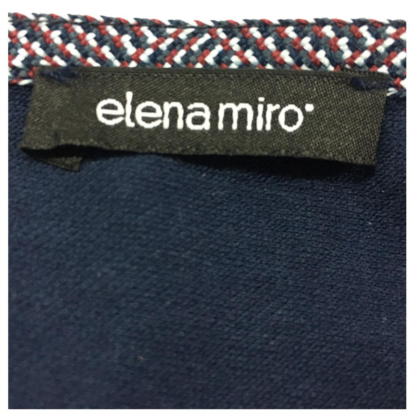 ELENA MIRÒ Polo Damen blau klar mit Kontrast Kontrast Kontrast weiß 97% Baumwolle 3% Elasthan 62232e