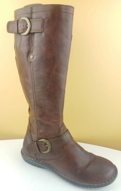 6dba0a54837 Born Concept Barbana Brown Wide Calf Tall Pull Up Riding Boots Womens 6    39.5