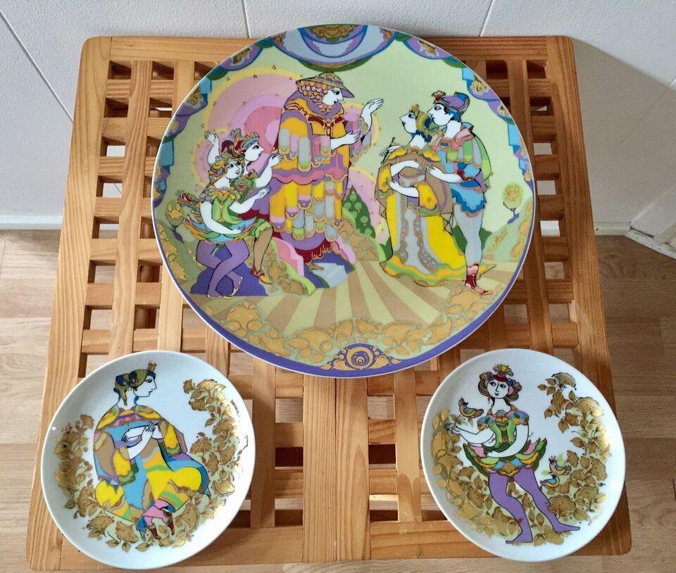 Wiinblad Platter/Fad/Tallerken/Vægophæng , Porcelæn