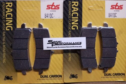 SBS Dual Carbon Front Brake Pads 841DC ZX10R 16-19 GSXR1000 12-19 Race Track
