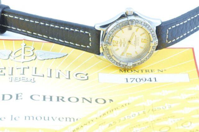 Breitling Colt Oceane Quartz Ladies 32MM + Diamonds A57350 Papiere