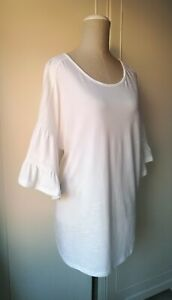 e2f0f9ae47193b NEXT Beautiful White Maternity Top Lace Trim & Cold Shoulder Detail ...