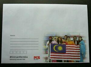 SJ-Malaysia-Independence-Day-2018-Flag-Merdeka-FDC-prepaid-envelope-MNH