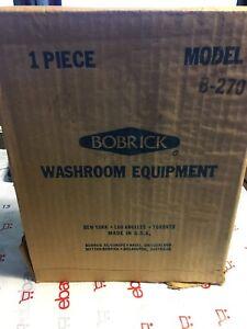 Pack of 2 Stainless Steel Rectangular Bobrick 270 Contura Sanitary Napkin Receptacle 1gal