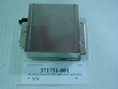 800MHZ FRONT SIDE BUS, 1MB LEVE 371751-001 Compaq INTEL XEON PROCESSOR 3.0GHZ
