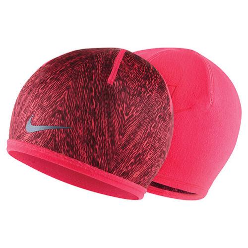 NEW Women/'s Nike Run Cold Weather Reversible Beanie Punch Burgundy 632297-646