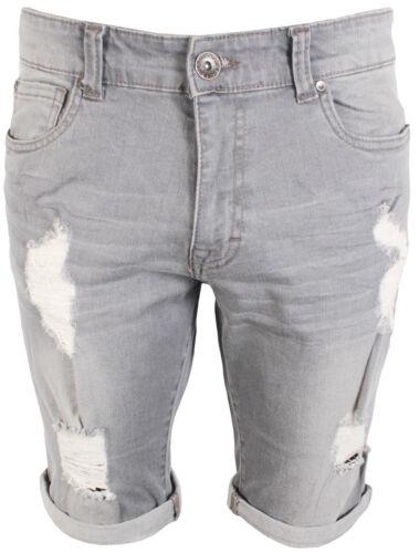 Hommes Dernier Enzo EZS383 Gris shorts denim