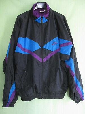 Veste Nike Toile 90'S Nylon Polyamide Noire Vintage ancien Tracksuit M | eBay