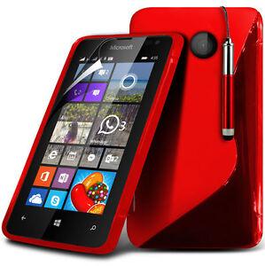 SUAVE-S-LINE-Funda-de-GEL-Protector-Pantalla-amp-Puntero-para-Microsoft-Lumia-532