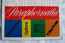 1977 porsche 911 924 owners sales brochure accessories options paraphernalia